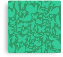 abstract green animals ,vector illustration Canvas Print