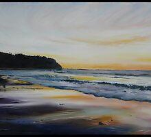 BATEAU BAY SUNRISE-AUSTRALIA by Wayne Dowsent