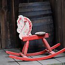 Old rocking horse by Barbara Anderson