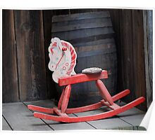 Old rocking horse Poster