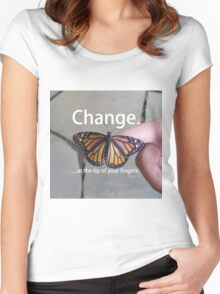 Change.  Women's Fitted Scoop T-Shirt