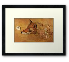 Curious Mr.Fox Framed Print