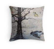 Night fell on our melodrama Throw Pillow