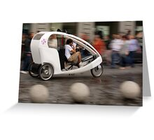 Florence Taxi Greeting Card