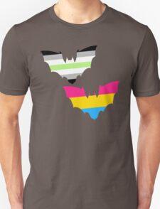 Agender Pansexual Pride Bats Unisex T-Shirt