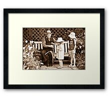 Saw player and kids Framed Print