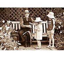 Saw player and kids Photographic Print