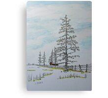 Pine Tree Gate Canvas Print