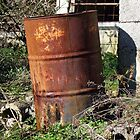 Rusty Oil Drum by Madeleine Forsberg
