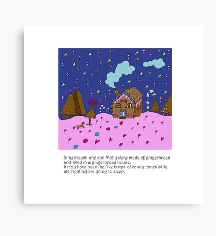 Silly Christmas Gingerbread House Canvas Print