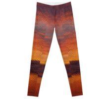Sunset Dragon Scales Legs Leggings