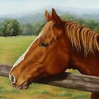 Chestnut Mare-A Country Girl by Margaret Stockdale