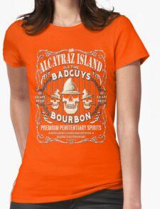 Alcatraz Island BadGuys Bourbon Label Womens Fitted T-Shirt