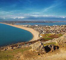 Chesil Beach, Westward by Nigel Finn