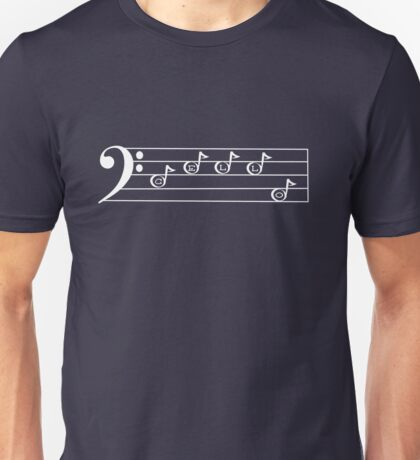CELLO - Words in Music - V-Note Creations (white text) Unisex T-Shirt