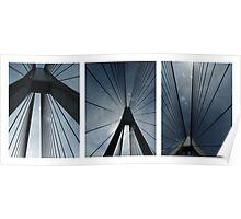 The Anzac Bridge - triptych Poster