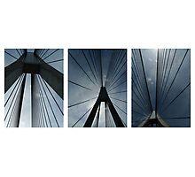 The Anzac Bridge - triptych Photographic Print