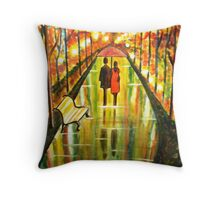 A Rainy Day III Throw Pillow