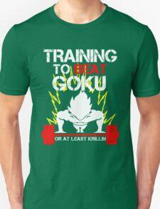 Vegeta Saiyan - Training to Beat Goku T-Shirt
