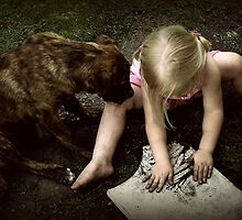 An Artist and Her Companion by Lea  Weikert
