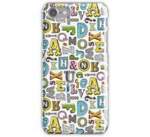 Alphabet Letters Doodle iPhone Case/Skin