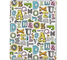 Alphabet Letters Doodle iPad Case/Skin