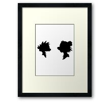 Calvin and Hobbes Silhouette Framed Print