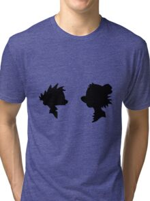 Calvin and Hobbes Silhouette Tri-blend T-Shirt