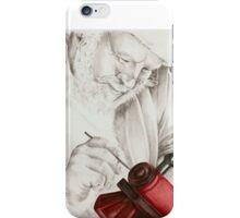 Santa hard at work. iPhone Case/Skin