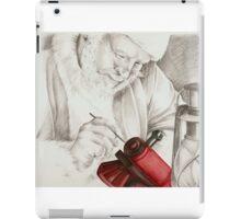 Santa hard at work. iPad Case/Skin