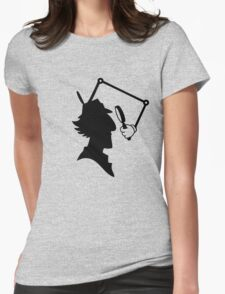 Inspector Gadget Silhouette Womens Fitted T-Shirt