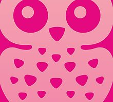 Cute Pink Baby Owl by XOOXOO