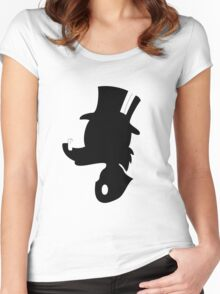 Scrooge McDuck Silhouette Women's Fitted Scoop T-Shirt