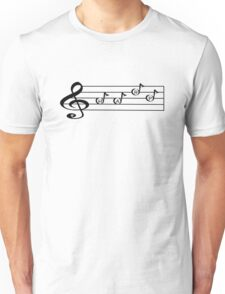 HARP -Words in Music - V-Note Creations Unisex T-Shirt