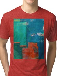 गंगा के किनारे (The Shores of Ganges) Tri-blend T-Shirt