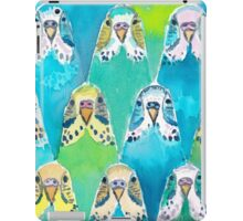 Watercolour Budgies iPad Case/Skin