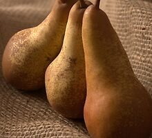 Static Nature with Three Pears by Catalina Negoita
