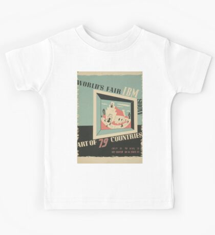 WPA United States Government Work Project Administration Poster 0744 World's Fair IBM Show Kids Tee