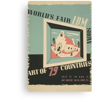 WPA United States Government Work Project Administration Poster 0744 World's Fair IBM Show Canvas Print