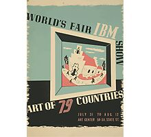 WPA United States Government Work Project Administration Poster 0744 World's Fair IBM Show Photographic Print