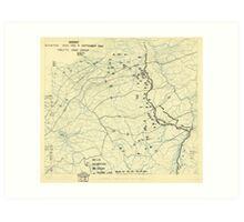 World War II Twelfth Army Group Situation Map September 11 1944 Art Print