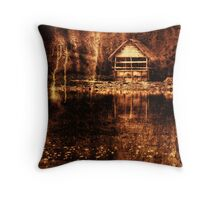 The Shack - working with textures Throw Pillow