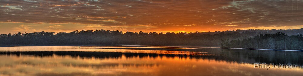 Amber Morn - Narrabeen Lakes, Sydney Australia (30 Exposure HDR Panoramic) The HDR Experience by Philip Johnson