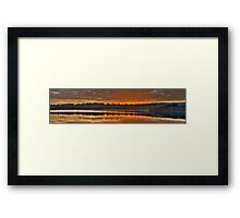 Amber Morn - Narrabeen Lakes, Sydney Australia (30 Exposure HDR Panoramic) The HDR Experience Framed Print
