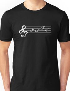 HARP - Words in Music - V-Note Creations (white text) Unisex T-Shirt