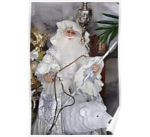 Santa & Polar Bear Poster