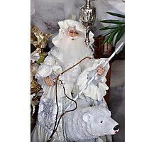 Santa & Polar Bear Photographic Print