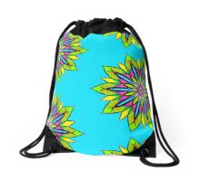 Simetric Colorful Ethnic Mandala Flower - Zentangle Drawstring Bag