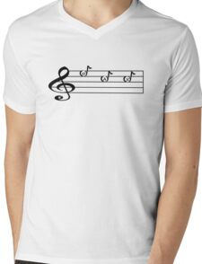 SAX -Words in Music - V-Note Creations SAXOPHONE Mens V-Neck T-Shirt