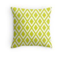 Chartreuse Diamond Pattern Throw Pillow